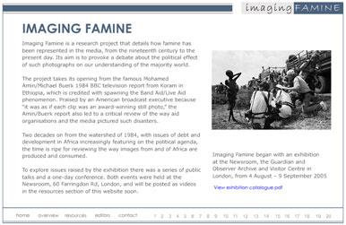 Imaging famine
